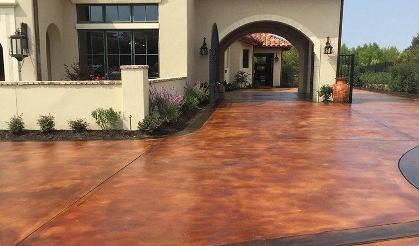 concrete driveway should have ample length and width